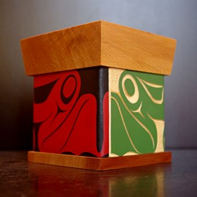 Bent wood Frog box by James Michels