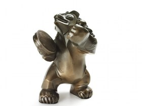 Bronze sculpture of Native Bear by BOMA