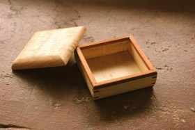 5x5 inch jewelry box spalted birch Marcel Daignault