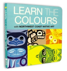 Learn the Colours board book with First Nations and Native art