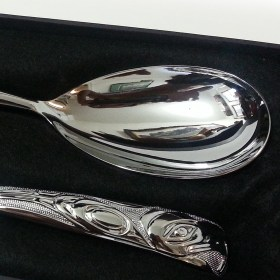 Chromium Native Eagle Serving Set by BOMA