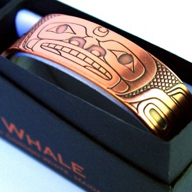 Tribal Spirit Gallery Copper Healing Bracelet Whale by Haida Artist Gordon White
