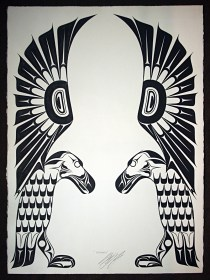 Native Northwest Artist Carl Stromquist Sentinels original painting
