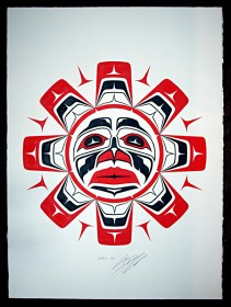 Native Northwest Artist Carl Stromquist Solstice Sun original painting