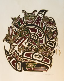 Spirit Guides print by Northwest Coast artist Derek C. Heaton