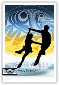 Andy Everson Spirits of Snow and Ice. Commemorating the athletes in the Winter Olympics